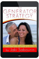•	Generator Strategy – Jaki's very own secret strategy to getting more dates than you can handle! Just steal this template, plug in your own information and get ready for a very busy dating season!